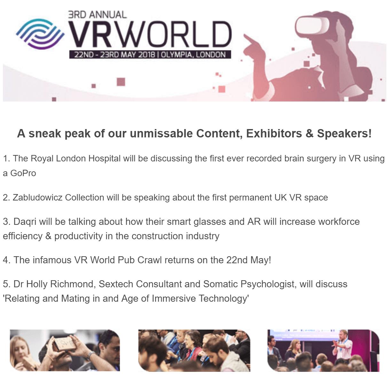 VR World 2018 London